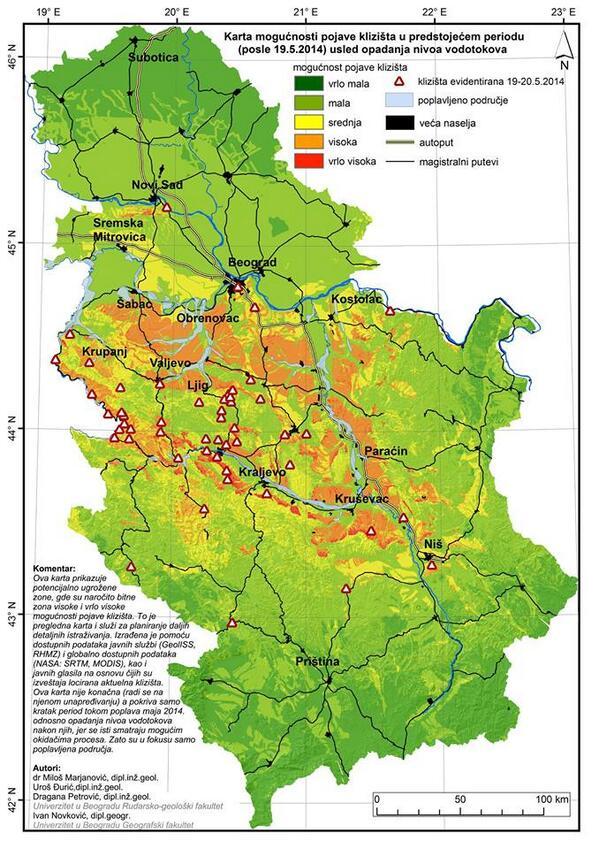 mali zvornik mapa Padavinski režim, ekstremi padavina i posledice u srednjem  mali zvornik mapa
